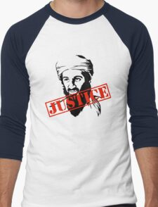 Osama Bin Laden Justice Men's Baseball ¾ T-Shirt
