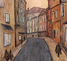 """Rue"" Original acrylic painting by Tree3332art"