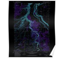 USGS Topo Map Oregon Steelhead Falls 281641 1985 24000 Inverted Poster