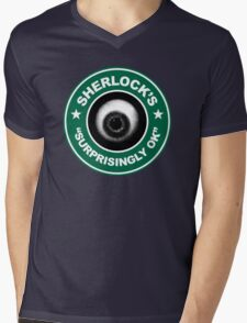 Sherlock's Coffee - Surprisingly OK! Mens V-Neck T-Shirt
