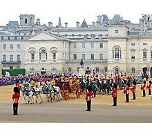 UK, England, London, Horse Guards Parade, Royal Wedding Photographic Print