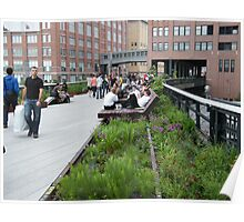 High Line, New York's Elevated Garden and Walkway Poster