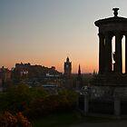 Calton Hill, Edinburgh at sunset by Michael Neal