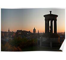 Calton Hill, Edinburgh at sunset Poster