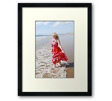 zoe beach beauty, 2 Framed Print