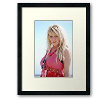 zoe beach beatuy, 3 Framed Print