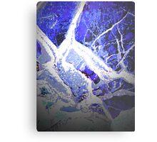 Snow and Shadow Metal Print