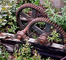 Old Rusty Gears by phil decocco