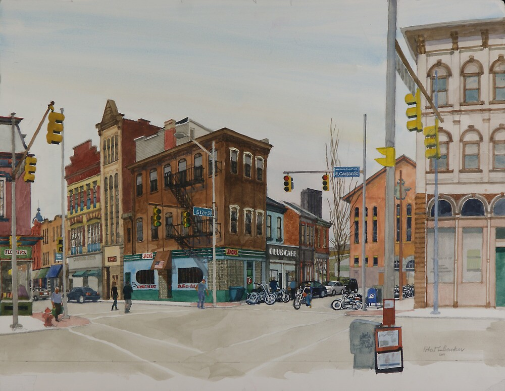 Carson Street & S.12th Street, South Side, Pittsburgh by Robert Bowden