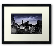 The Abbey and the Stones Framed Print