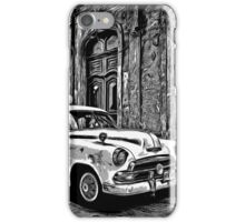 Vintage Car Graphic Novel Style iPhone Case/Skin