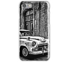 Vintage Car Graphic Novel Style iPhone Case/Skin