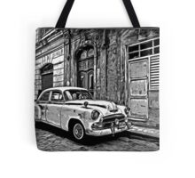 Vintage Car Graphic Novel Style Tote Bag