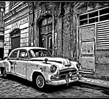 Vintage Car Graphic Novel Style by Edward Fielding