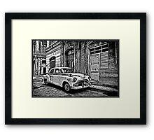 Vintage Car Graphic Novel Style Framed Print