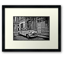 Vintage Car Graphic Novel Style Framed Print