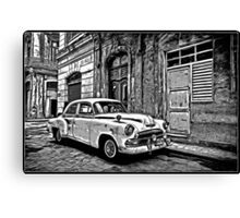 Vintage Car Graphic Novel Style Canvas Print