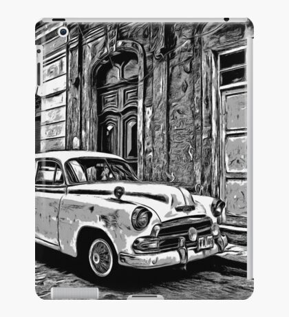 Vintage Car Graphic Novel Style iPad Case/Skin