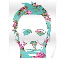 Halloween Floral Michael Myers Poster