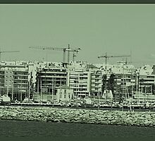 Skyline of Cranes... by BevsDigitalArt