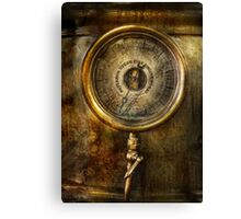 Steampunk - The pressure gauge Canvas Print