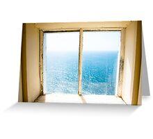 window to the sea Greeting Card