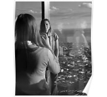 Two Girls at Eureka Tower Poster