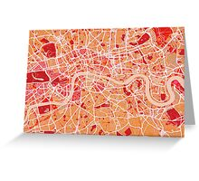 London Map Art Red Greeting Card