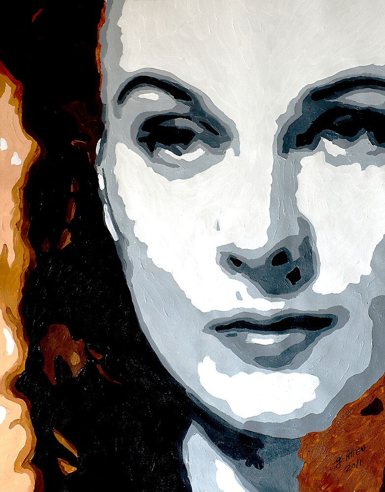 Vivien Leigh in Brown and Gray 001 by Greg Allen