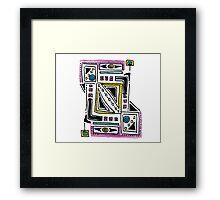 Funky Squares Framed Print