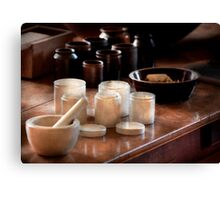 Pharmacist - Pestle and cups Canvas Print