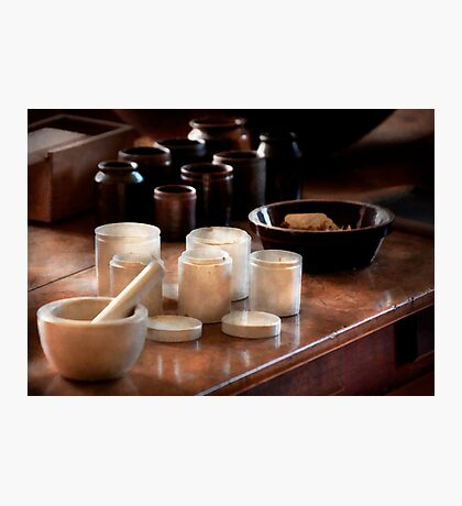 Pharmacist - Pestle and cups Photographic Print
