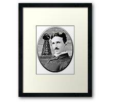 Nikola Tesla - Legends of Science Series Framed Print