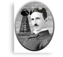 Nikola Tesla - Legends of Science Series Metal Print