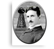 Nikola Tesla - Legends of Science Series Canvas Print