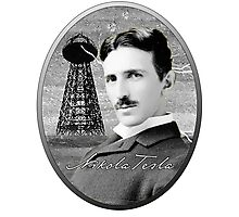 Nikola Tesla - Legends of Science Series Photographic Print