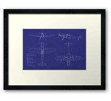 Messerschmitt ME109 Blueprint Framed Print