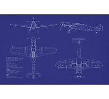 Messerschmitt ME109 Blueprint Photographic Print