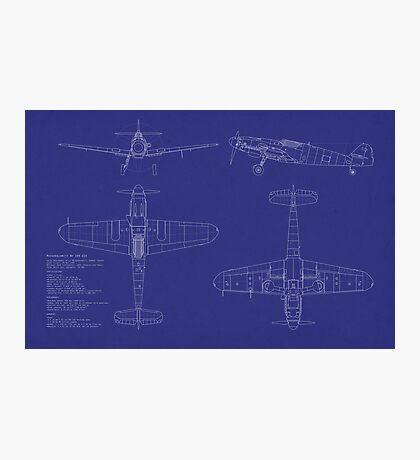 Messerschmitt ME109 Blueprint Photographic Print