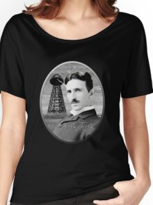 Nikola Tesla - Legends of Science Series Women's Relaxed Fit T-Shirt