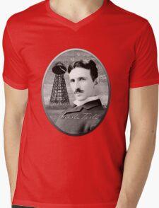 Nikola Tesla - Legends of Science Series Mens V-Neck T-Shirt