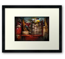 Fireman - Fire equipment  Framed Print