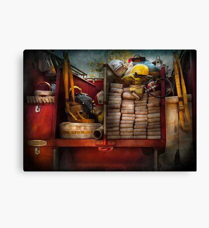 Fireman - Fire equipment  Canvas Print