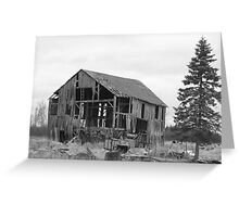 old barn and tree Greeting Card