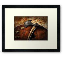 Fireman - The fire axe  Framed Print
