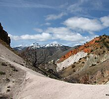 Desert Mountain View - Red Rock Road in California by mayauribe