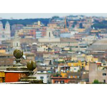 Rome from a balcony Photographic Print