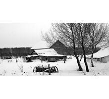 winter#13.three trees three barns Photographic Print