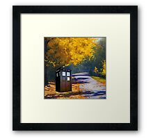 Tardis Autumn Framed Print