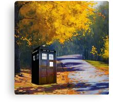 Tardis Autumn Canvas Print